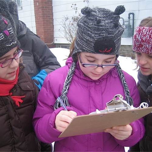 St. Lawrence students monitor air quality at their school.