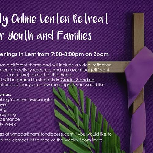 upcoming parish events for youth and families